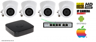 IP KAMEROVY SET Full hd +POE switch