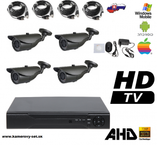 Kamerovy set 4ch HDMI NEW model kamery AHD !!!