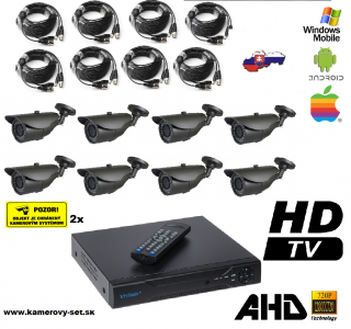 Kamerovy set 8ch HDMI NEW model kamery AHD AKCIA DO VYPREDANIA!!!
