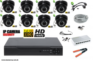 IP kamerovy set 8ch Full hd 1080p