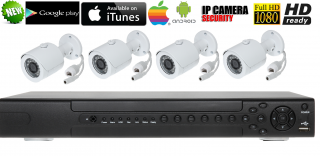 IP KAMEROVY SET 4CH FULL HD SONY